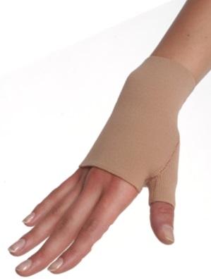 woman-wearing-lymphedema-glove